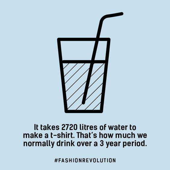 spotřeba vody na výrobu trika